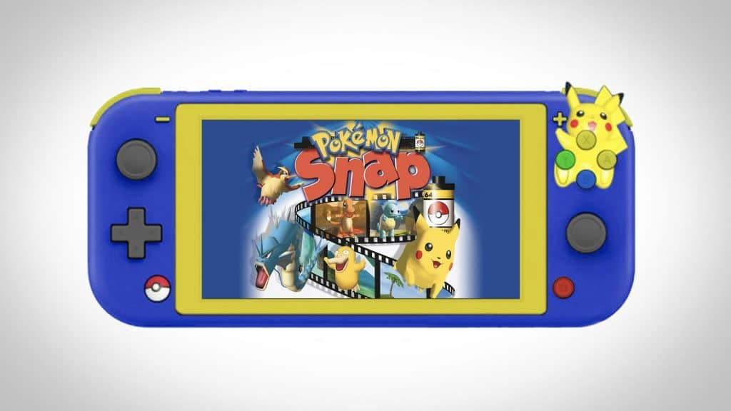 custom nintendo switch lite pokemon snap