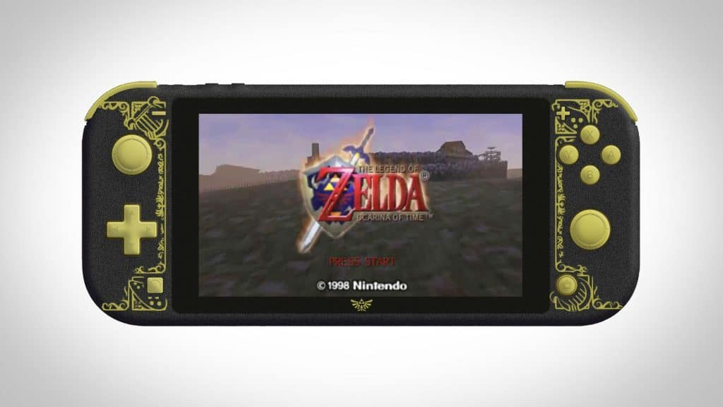 custom nintendo switch lite zelda