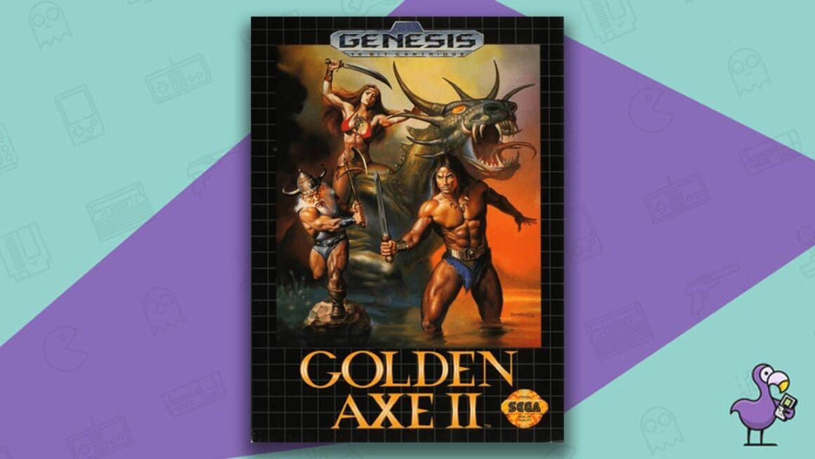 Best Sega Genesis Games - Golden Axe II Game Case Cover Art