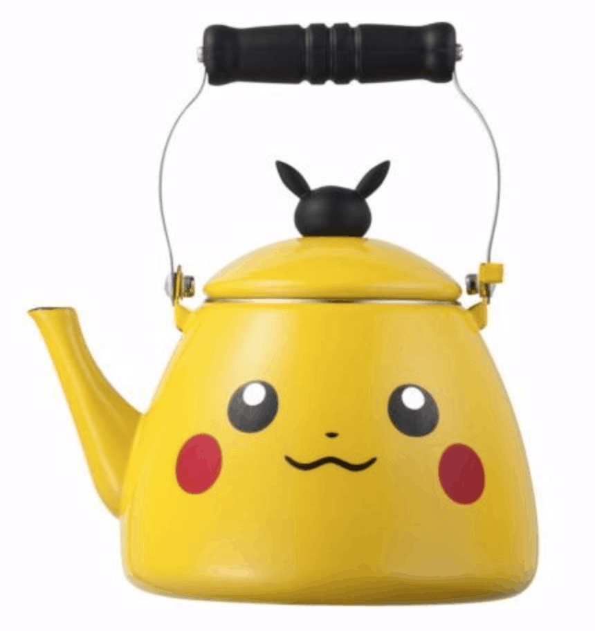 Yellow pikachu teapot. Retro Kitchen products.