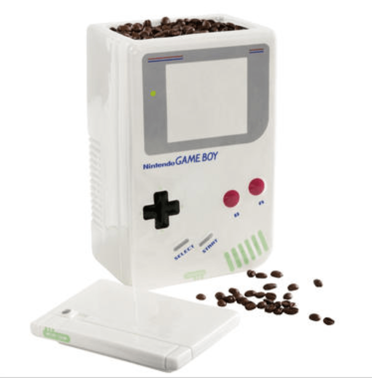 Game Boy coffee canister.