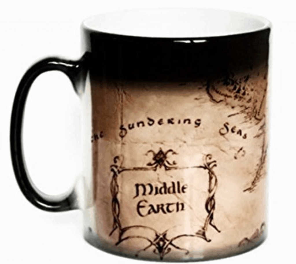 Retro kitchen products middle earth mug.