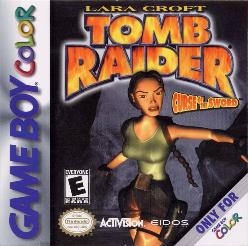 Best GameBoy Colour games - Tomb Raider game case