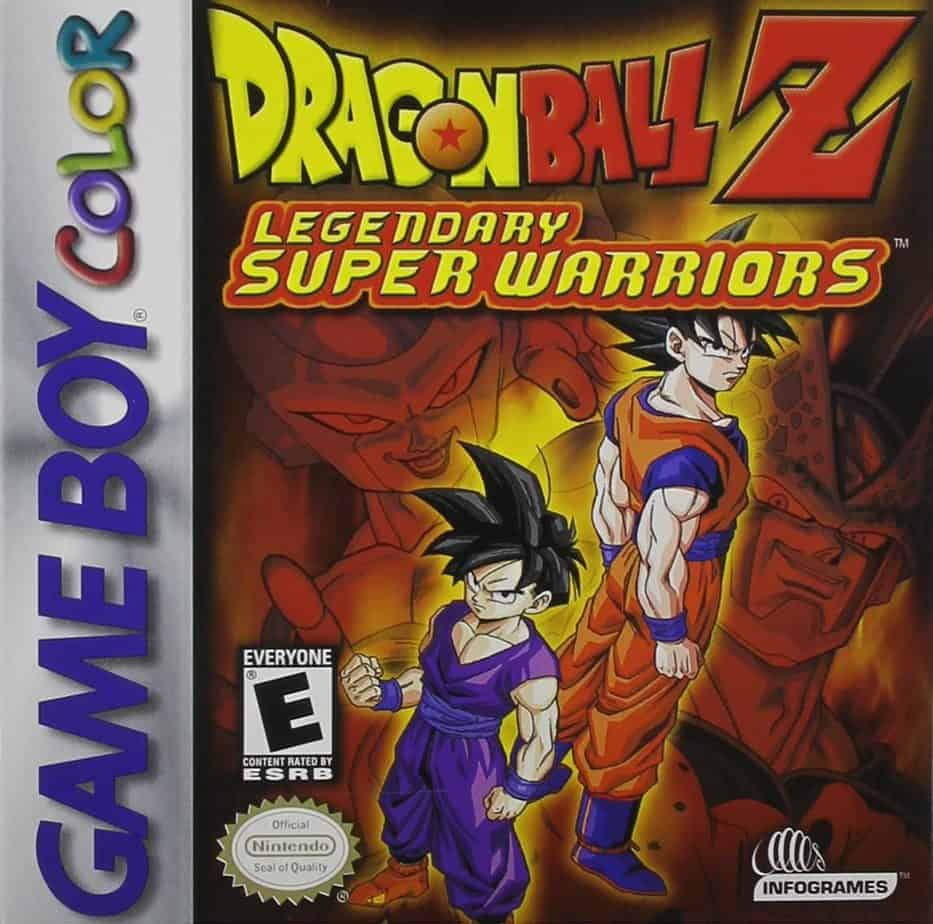 Best GameBoy Color games - DBZ legendary super warriors game case