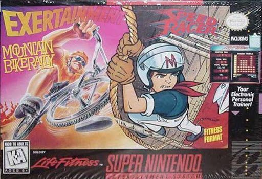 rare SNES games - Exertainment Mountain Bike Speed Racer combo box art