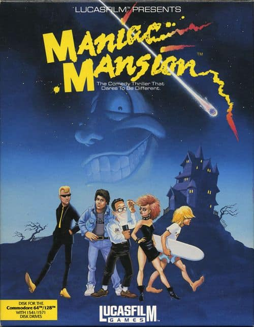 Best Commodore 64 Games - Maniac Mansion