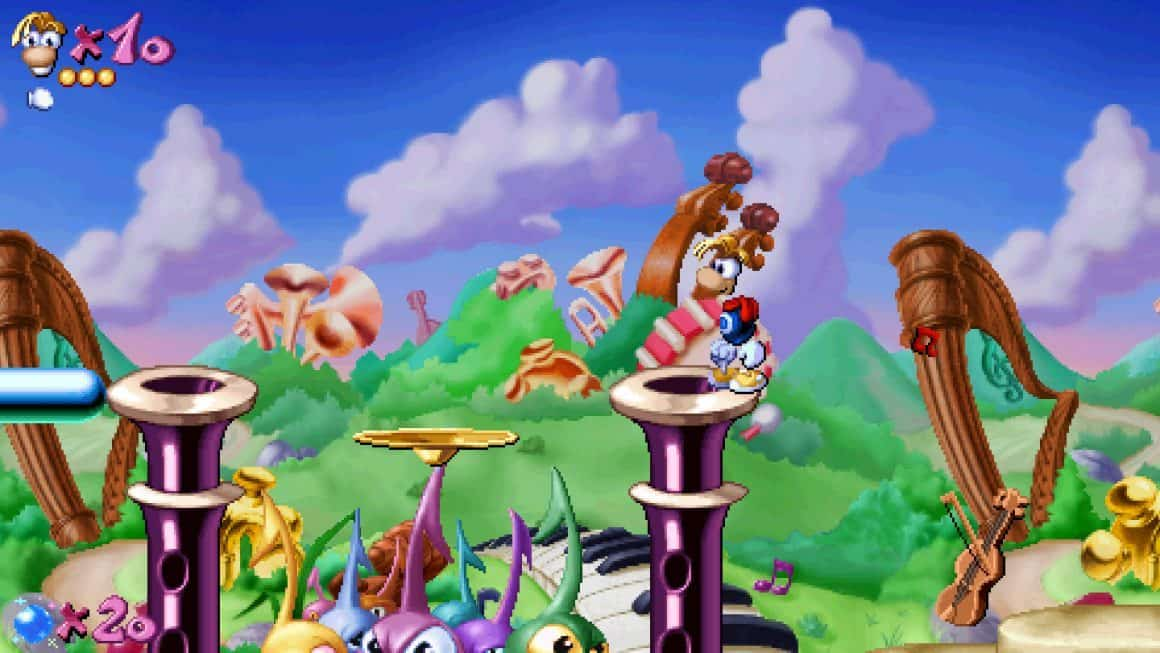 Rayman in the badlands