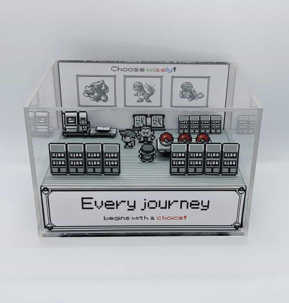 retro gaming diorama