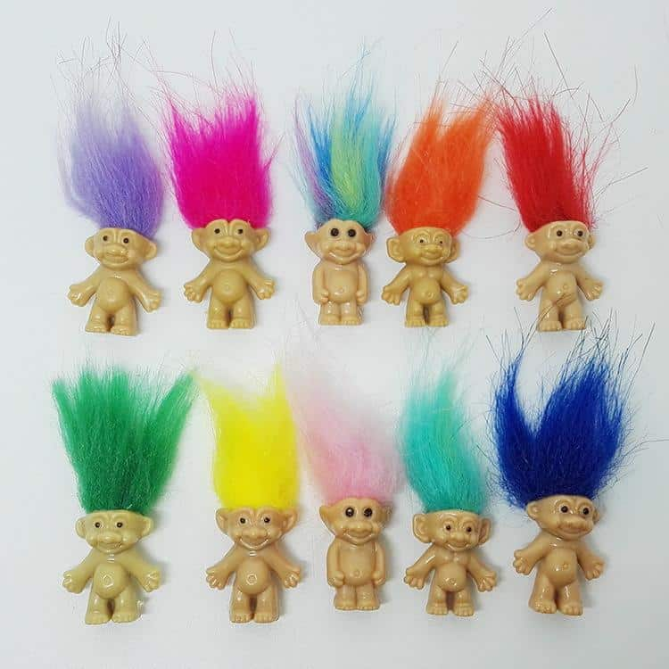 Trolls with multiple hair colours - BEST 90S TOYS