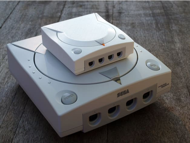 Dreamcast Mini on a real-sized Dreamcast