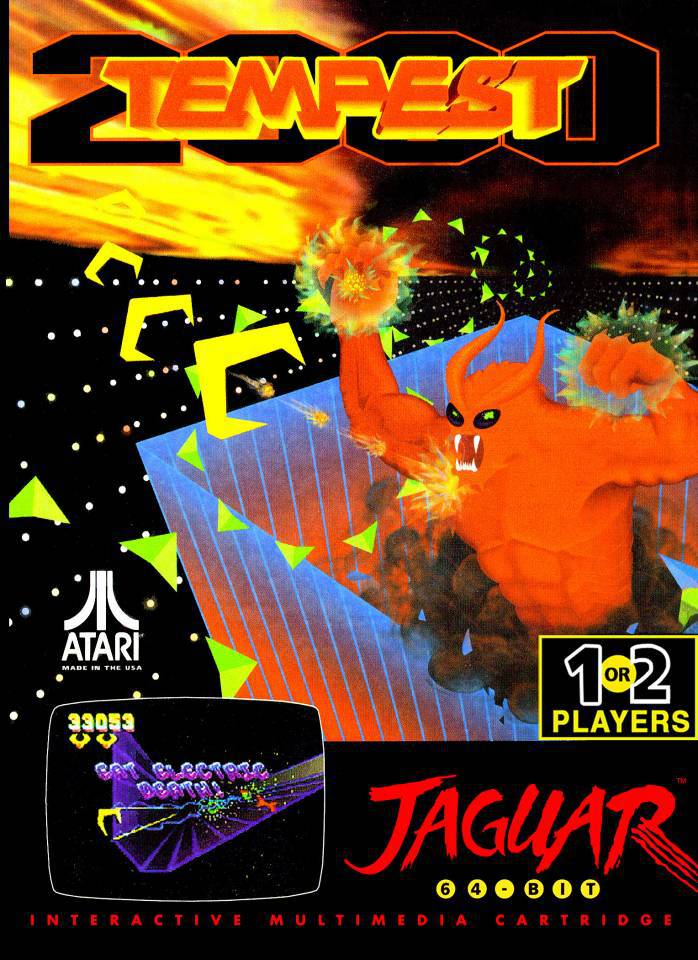 Best Atari Jaguar Games - Tempest 2000