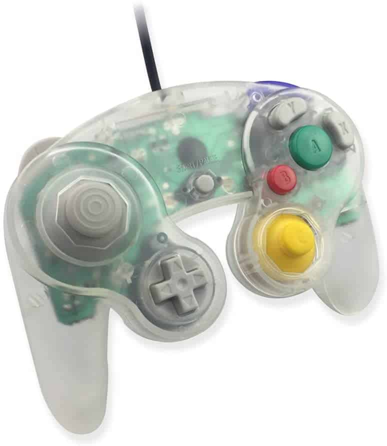 Clear controller for the Nintendo Gamecube