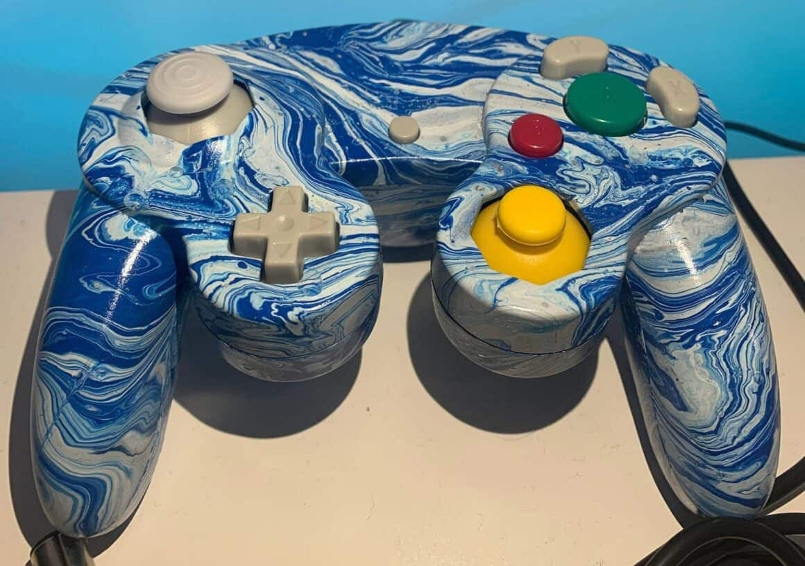 Hydro dipped remote - blue and white