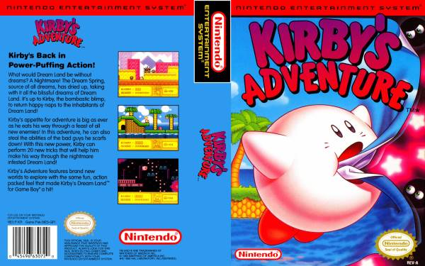 kirby's adventure nes art