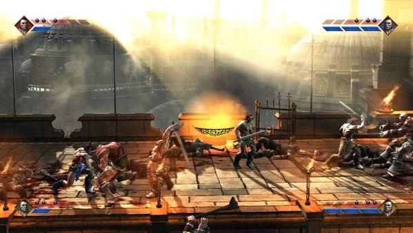 Screenshot of the new Golden Axe game, Golden Axed