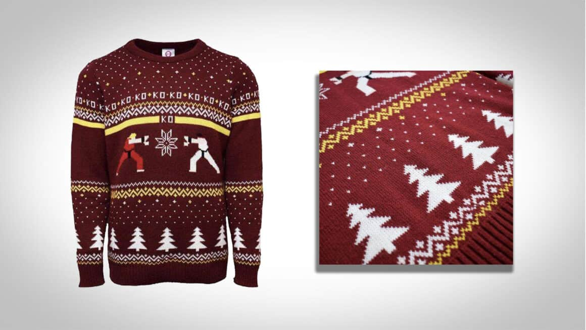 street fighter christmas jumper