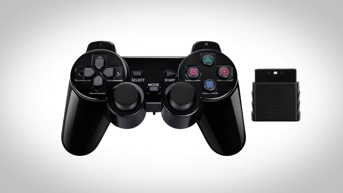 Buy a PS1 controller - wireless