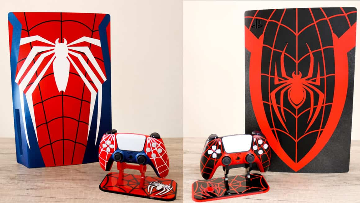 Spider man themed PS5 panels