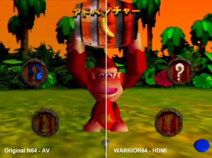 Graphics comparison on the Warrior 64 Clone Console