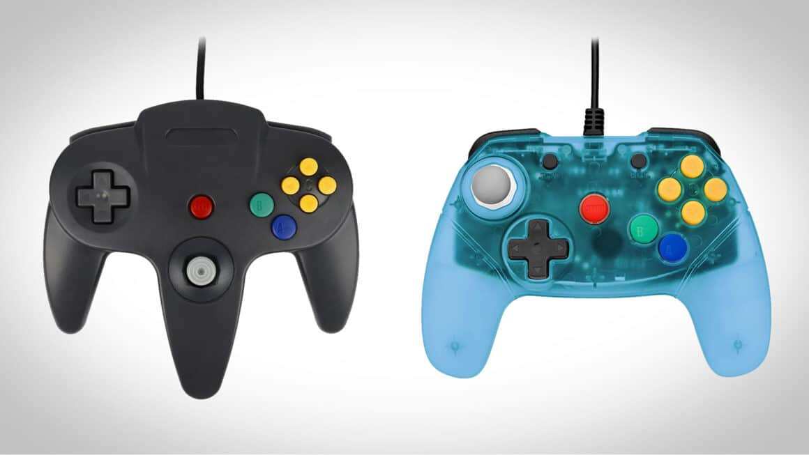 Old and new N64 Controller styles