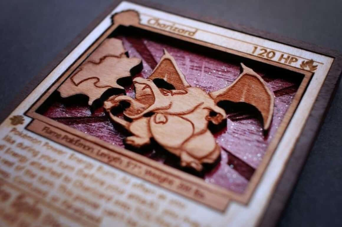 Nintendo Wood Carvings - Charizard Card