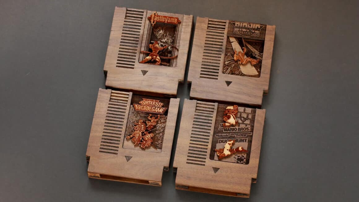 Nintendo Wood Carvings - NES games