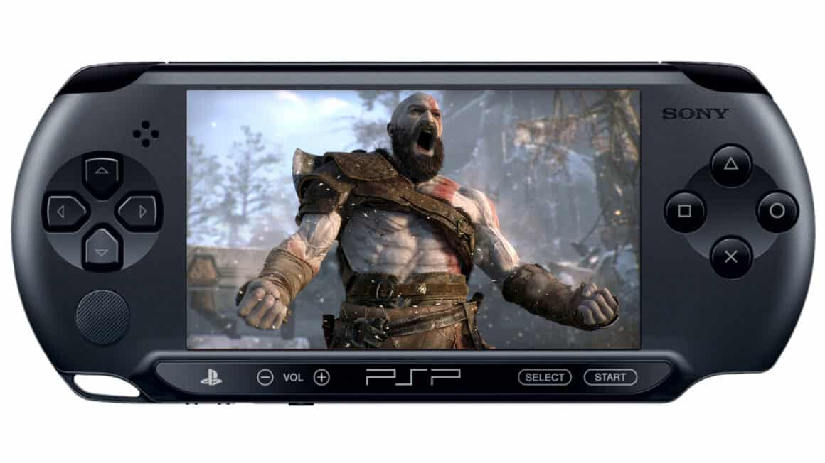 PSP 5G playing God of War