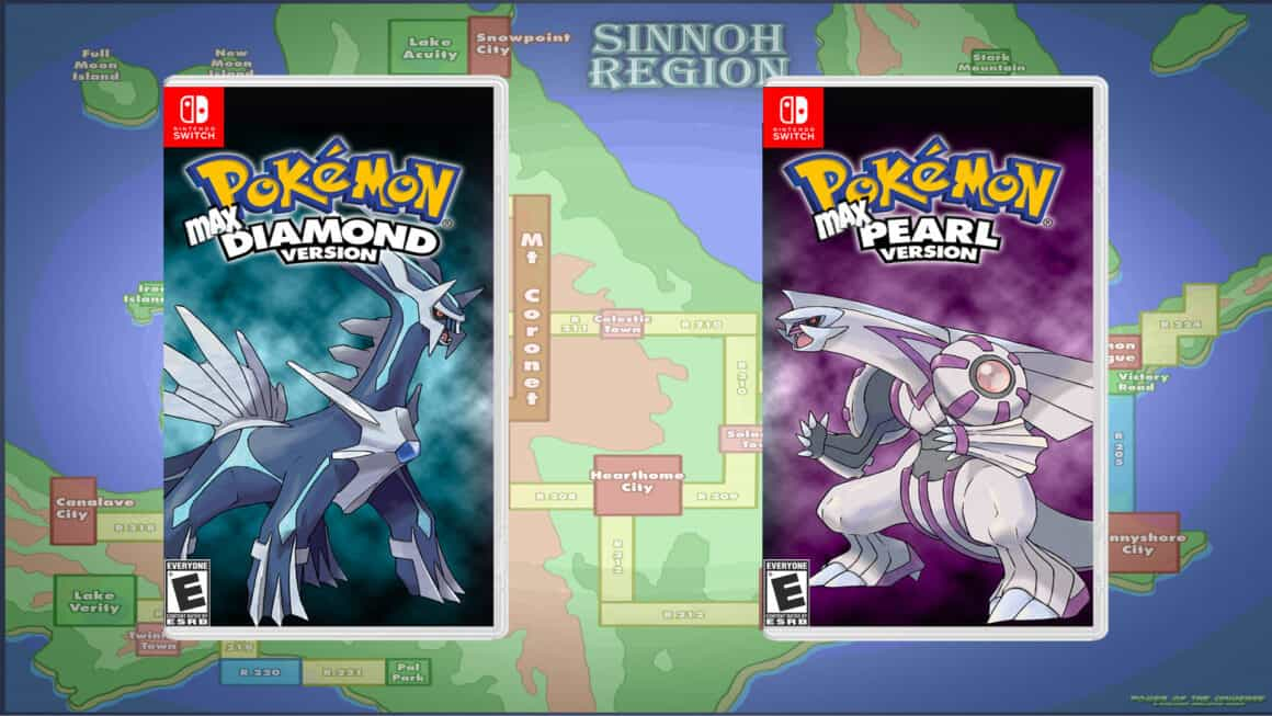 Pokemon diamond and pearl remakes game cases