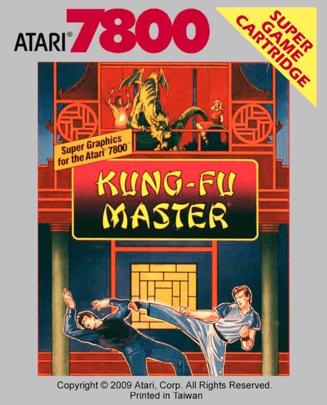 best Atari 7800 games - Kung Fu Master front cover