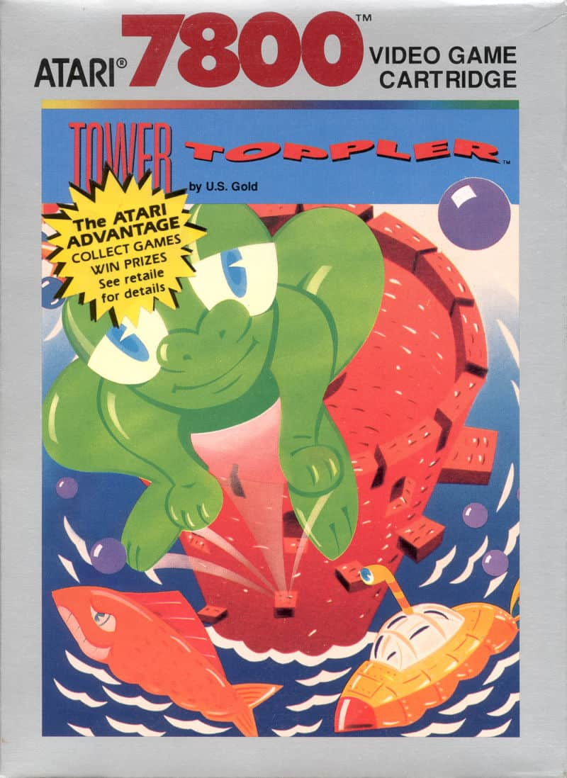 best Atari 7800 games - Tower toppler front cover
