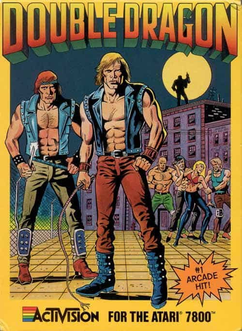best Atari 7800 games - Double Dragon front cover