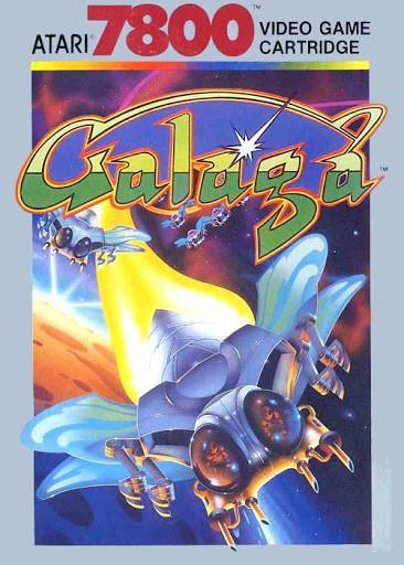 best Atari 7800 games - Galaga front cover