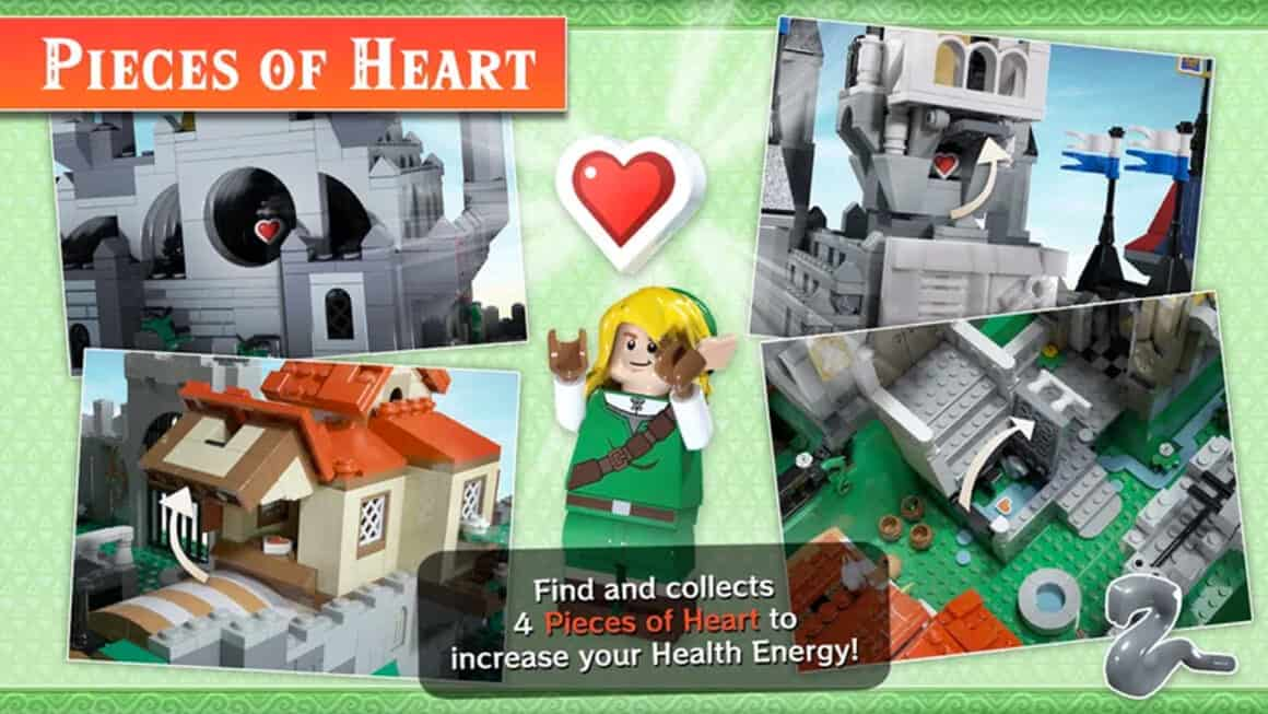 Lego Zelda - Collectibles and heart pieces
