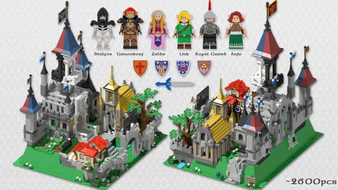 Lego Zelda - Hyrule Castle front and back view