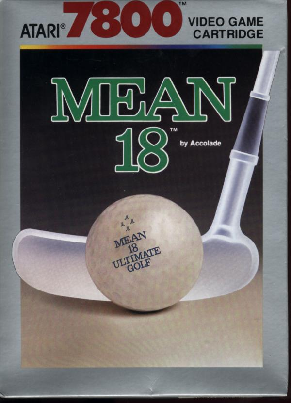 best Atari 7800 games - Mean 18 front cover