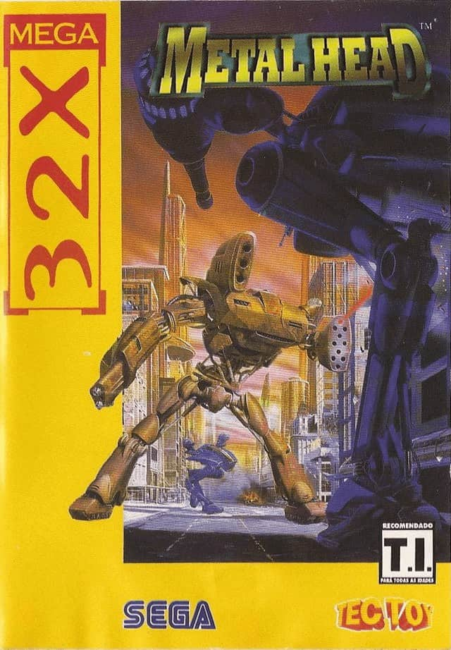 Best 32X games - Metal Head front cover