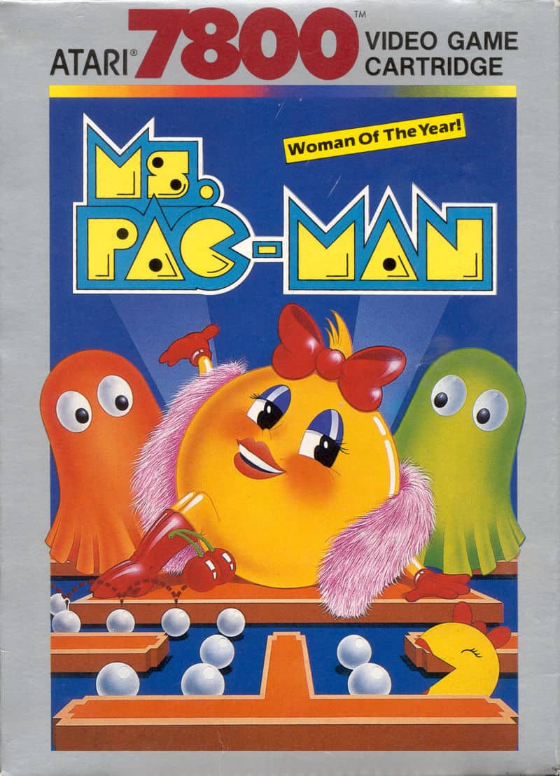best Atari 7800 games - Ms Pac Man front cover