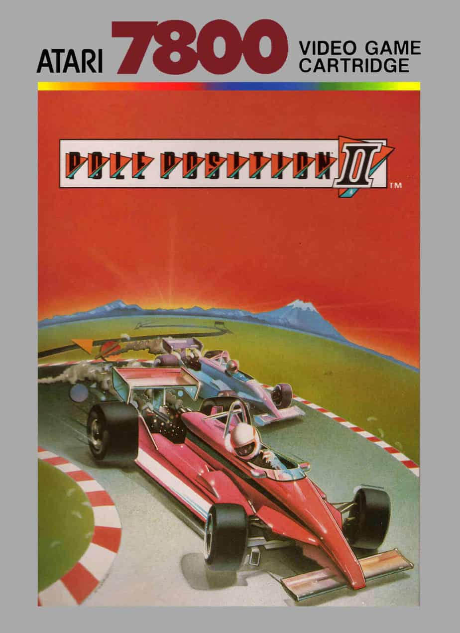 best Atari 7800 games - Pole Position II front cover