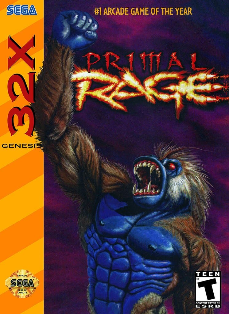 Best 32X games - Primal Rage front cover