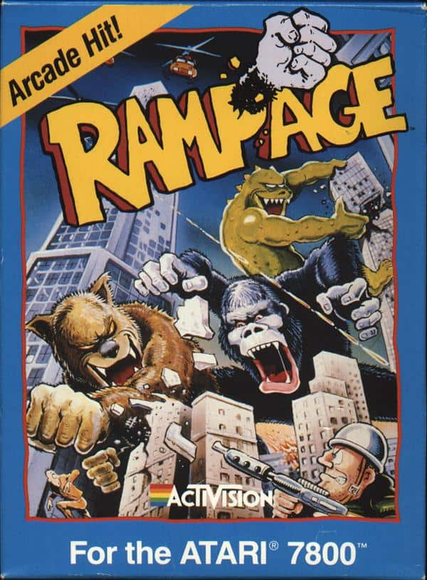 best Atari 7800 games - Rampage front cover