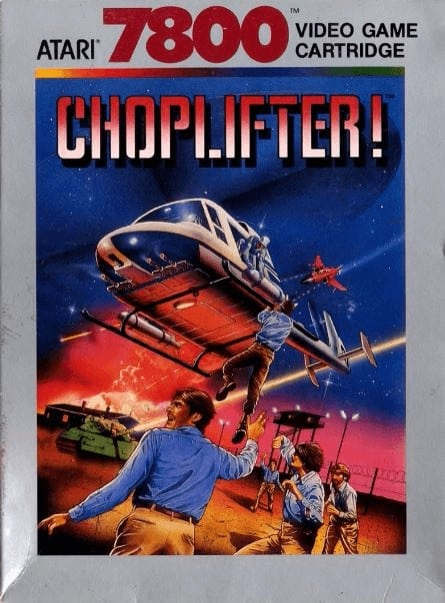 best Atari 7800 games - Choplifter front cover
