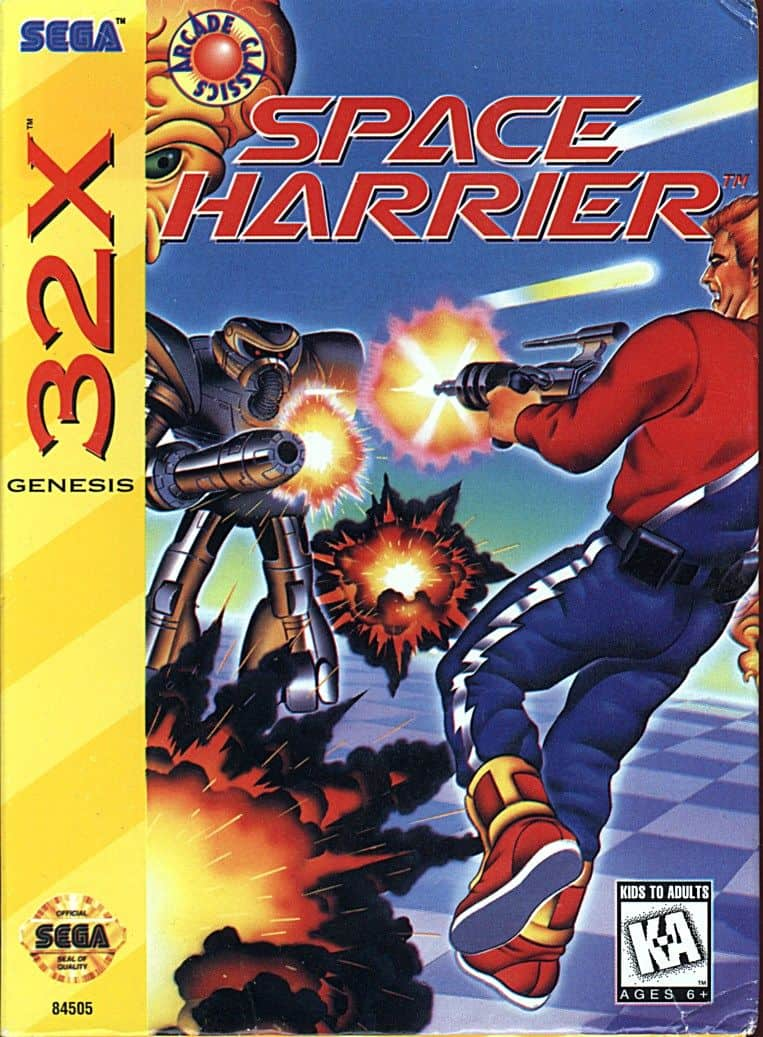 Space Harrier - Best 32X games front cover