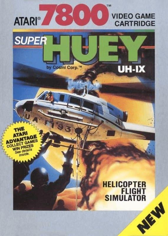 best Atari 7800 games - Super Huey UH-IX front cover