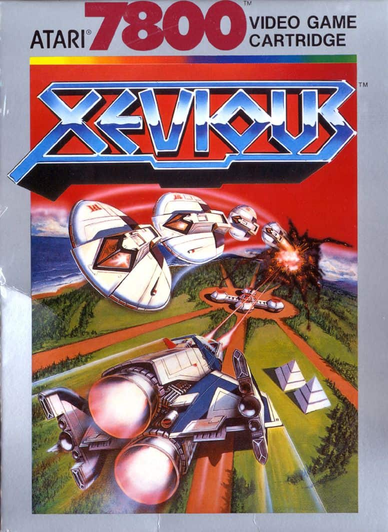 best Atari 7800 games - Xevious front cover