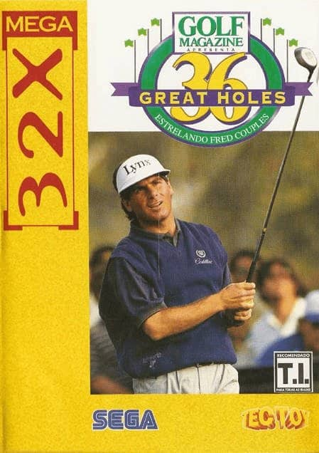 Best 32X games - Golf Magazine: 36 Great Holes Starring Fred Couples front cover
