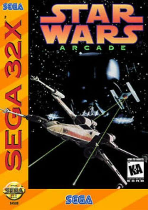 Best 32X games - Star Wars Arcade front cover