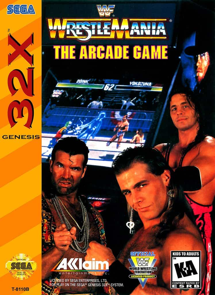 Best 32X games - WWF Wrestlemania: The arcade game front cover