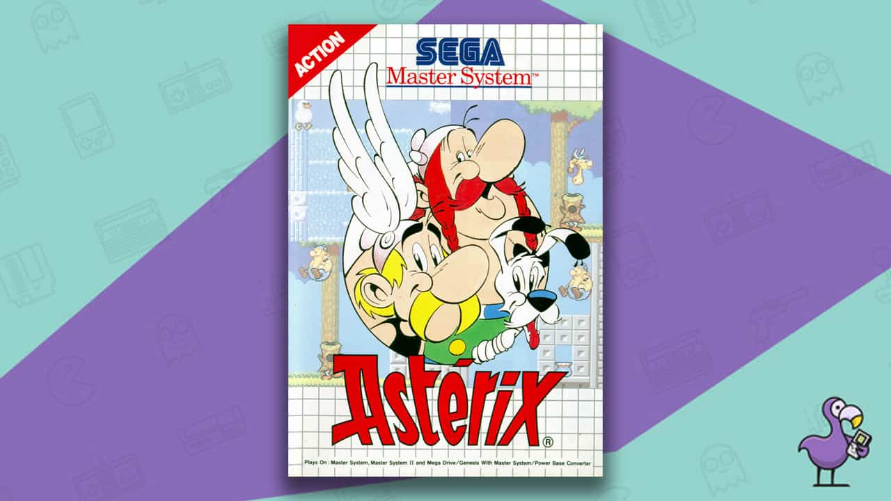Best Master System Games - Asterix Game Case