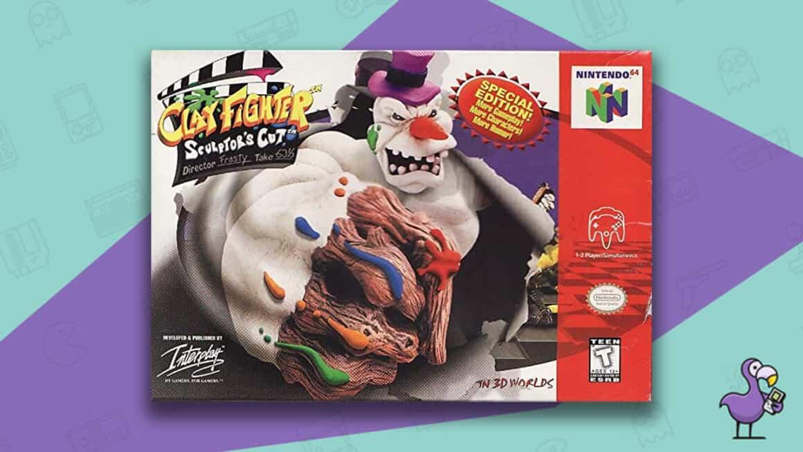 Rare N64 games - Clay Fighter: Sculptor's Cut game case