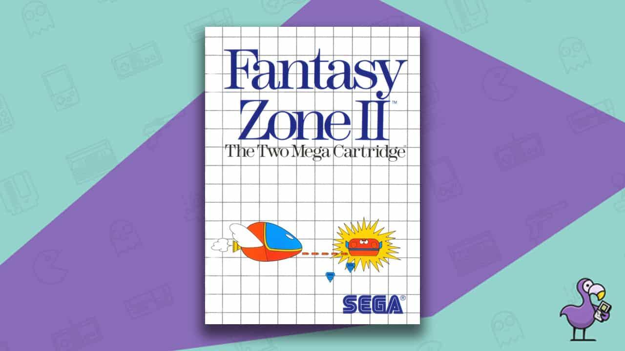 Best Master System Games - Fantasy Zone II game case